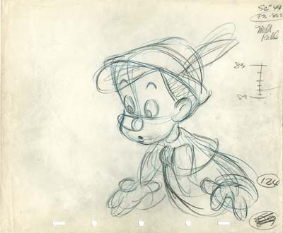 Milt Kahl Pinocchio Drawing