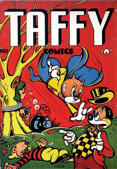 Funny Animal Comic Book Cover