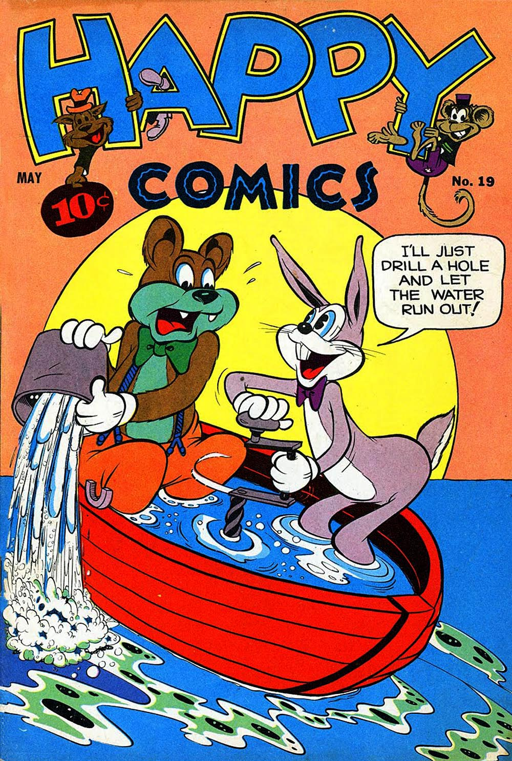 funny comic animal comics covers animationresources animation community inbetweens 1947 happy under serving