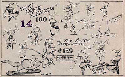 Tex Avery MGM Model Sheets