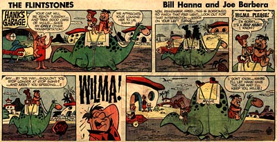 Gene Hazelton Flintstones Comic Strip