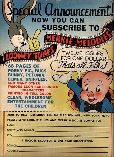 Looney Tunes Comics No 3