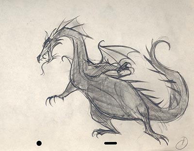 Sleeping Beauty Dragon Drawing