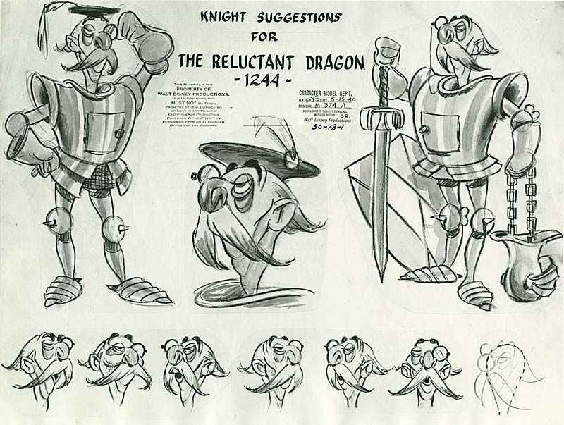 Character Design Definition : Design reluctant dragon and pinocchio model sheets
