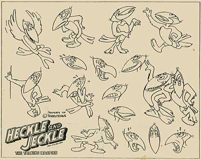 Terrytoons Model Sheet