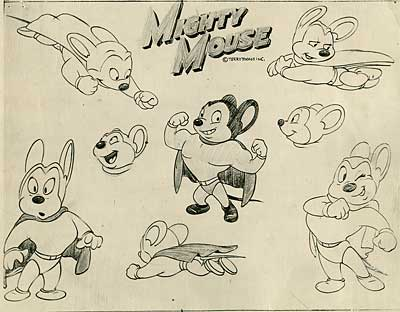 Terrytoons Model Sheet