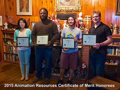2015 Certificate of Merit Honorees