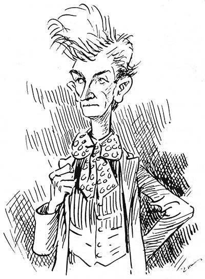 Self caricature by Eugene Zimmerman